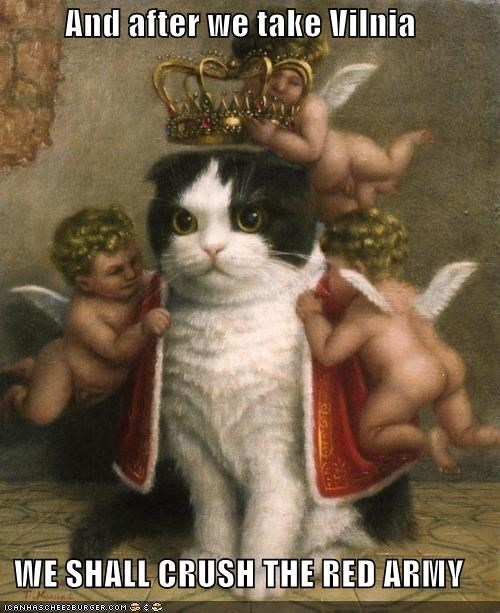 animal art cat funny painting royalty - 4458995968