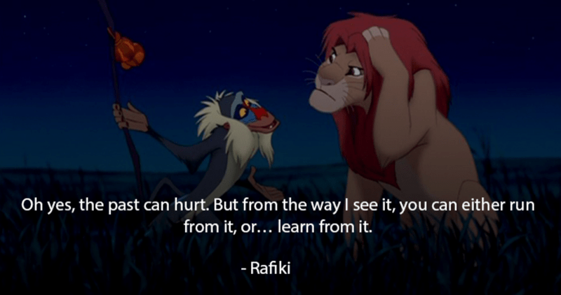 disney movies giving very good advice in their movies