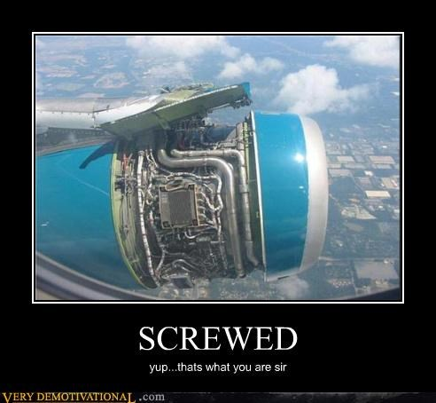 airplane broken engine jet screwed - 4459568640