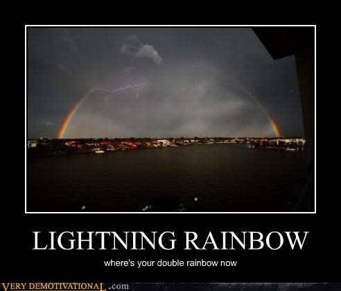 lightning nature rainbow storm - 4460062208