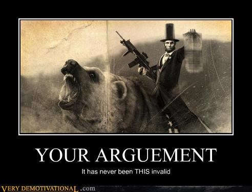 Abe Lincoln,bear,Invalid Argument