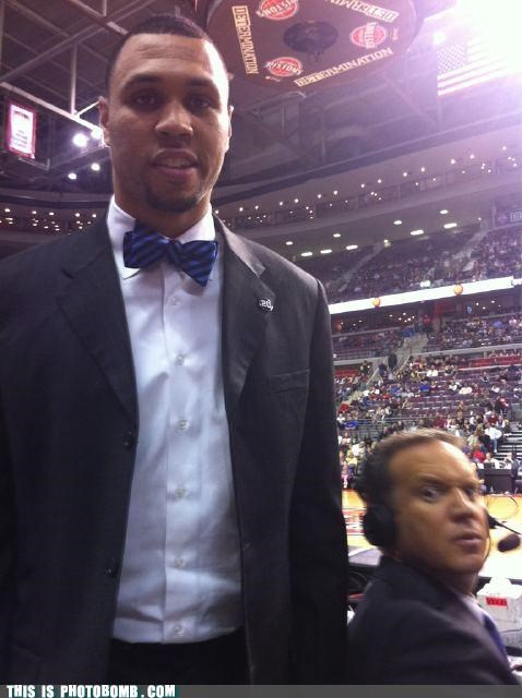 bowtie formal nba photobomb the stare wtf - 4460309504