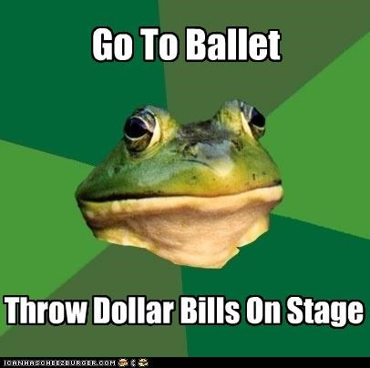exotic dancers foul bachelor frog make it rain where is pole - 4460474624