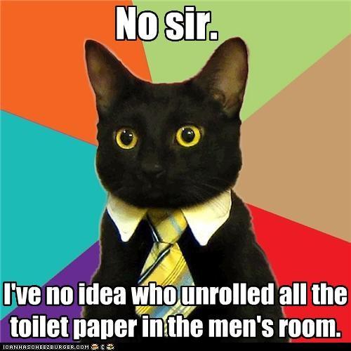 animemes bathroom-stress-management Business Cat passive agressive toilet paper - 4460503040