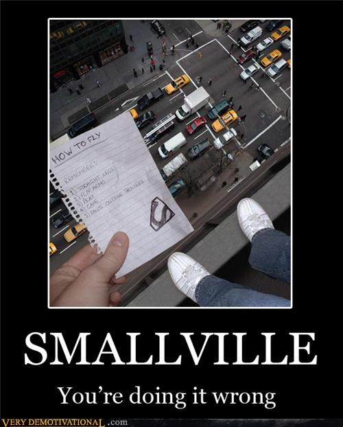 how to fly,note,Smallville,superman