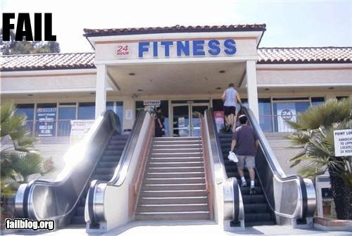 classic,escalators,failboat,fitness,g rated,gym,irony,stairs