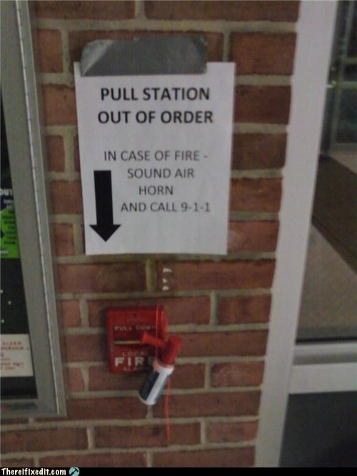 air horn fire alarm Professional At Work safety first - 4461591552