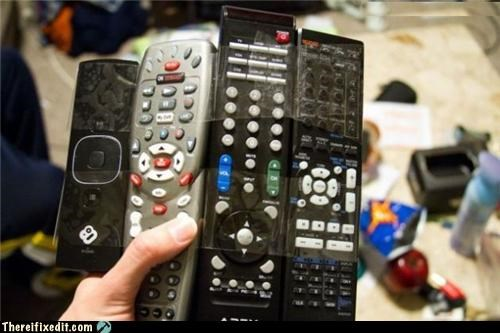dual use,lazy,remotes,tapes