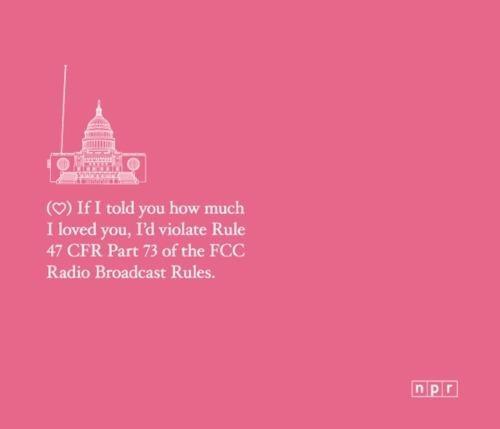 NPR,public radio style,Valentines day