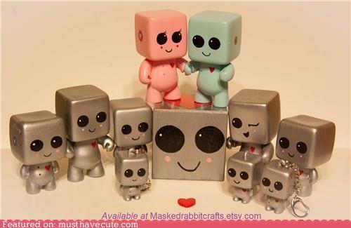 heartbot keychians love robot silver toys - 4461952512
