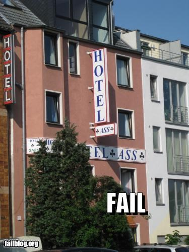 affair,bad hotel,failboat,FAILS,funny,hotel,name,sign