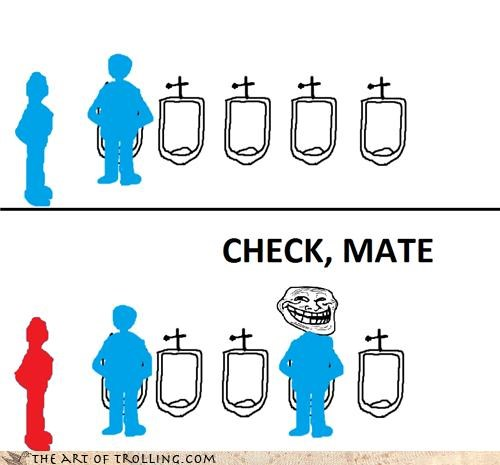 checkmate chess IRL peeing stalemate stall urinal - 4462031104