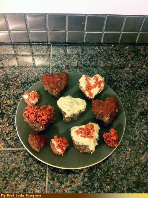 Heart-Shaped Valentine's Day Meatloaf Cupcakes