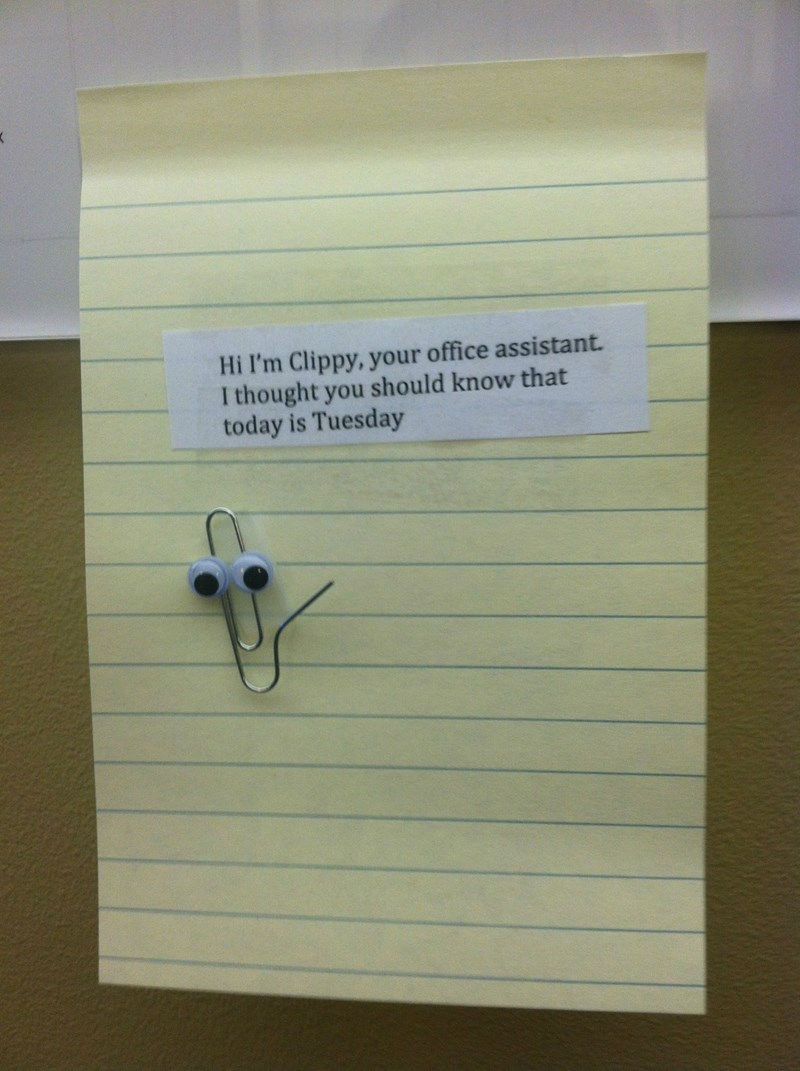 clippy coworkers office pranks Office microsoft microsoft word - 446213