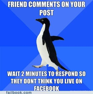 comments Memes socially awkward penguin