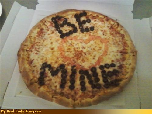 be mine,love,olives,pizza,toppings,Valentines day