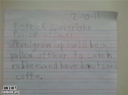 cute kids notes police school - 4462536960