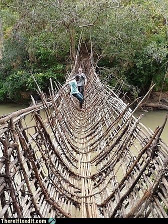 bridge dangerous wooden - 4462543616