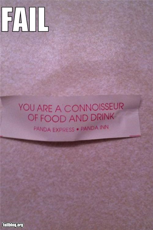 failboat food fortune cookie g rated message - 4462595840