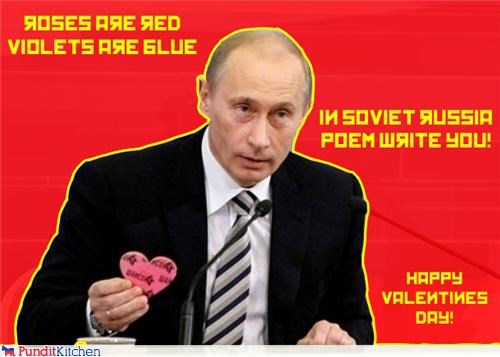 dogs holiday kill love poem puppy russia sweet Valentines day Vladimir Putin - 4462641408