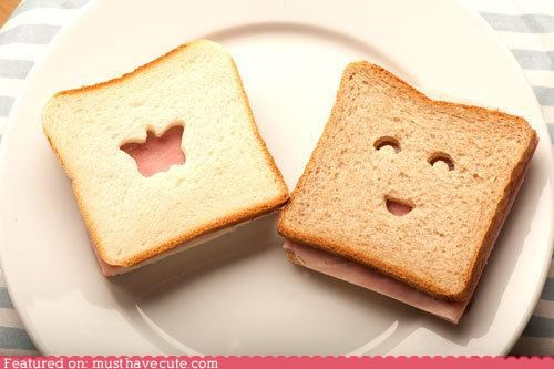 butterfly epicute face happy sandwich smile - 4462683904