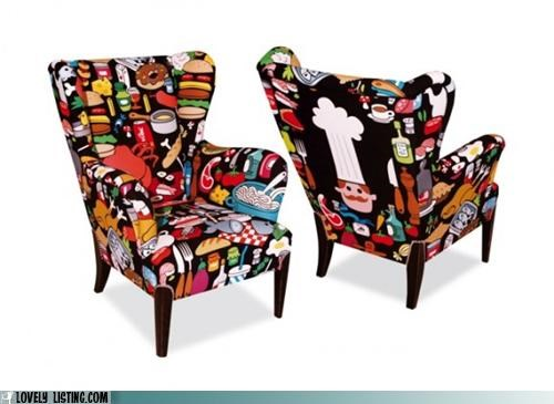 chair cook fabric food furniture kitchen print - 4462722816