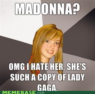 lady gaga Madonna Musically Oblivious 8th Grader - 4463317504