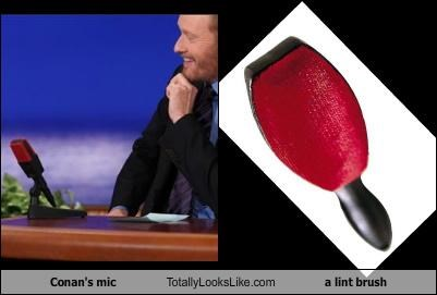 conan obrien lint brush microphone TV - 4464140800