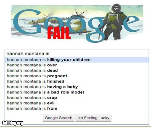 Autocomplete Me celeb failboat google g rated hannah-montana-is search - 4464260096