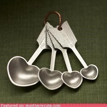 arrows cooking cupid hearts kitchen Measuring spoons spoons - 4464401664
