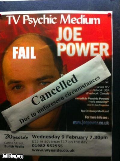 cancellation,failboat,g rated,irony,poster,psychics