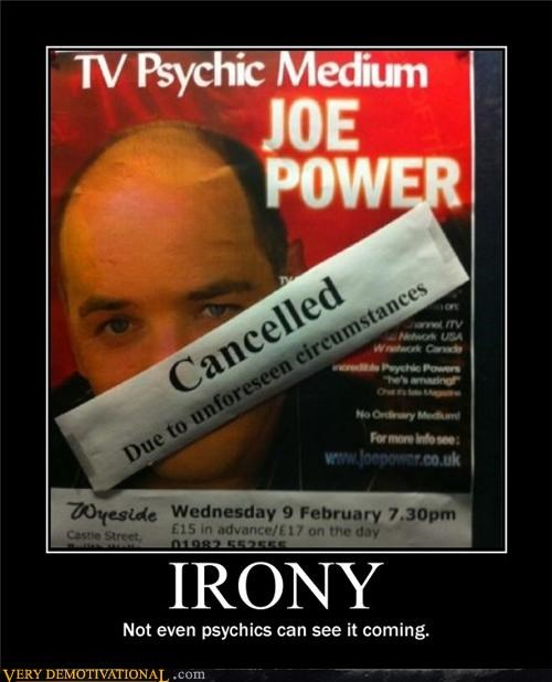 cancelled show,irony,psychic