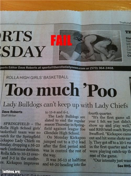 failboat g rated headline poop porbably bad news sports - 4465256192