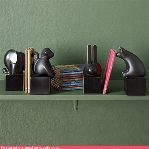 animals,bookends,metal,sculpture