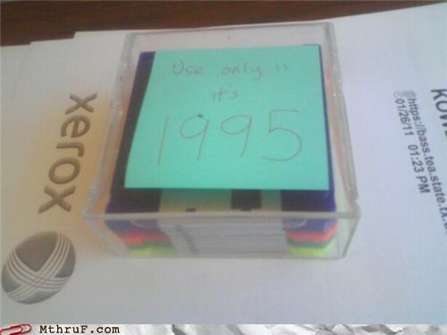 floppy disc post it sticky time machine xerox - 4465755648