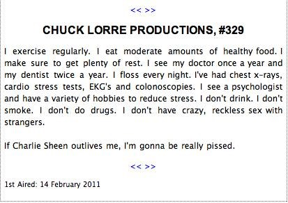 aint-it-the-truth Charlie Sheen Chuck Lorre Vanity Card - 4466056704