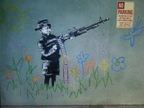 banksy,Street Art,The Crayola Shooter