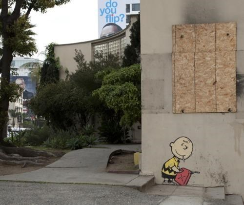 banksy,charlie brown,Street Art