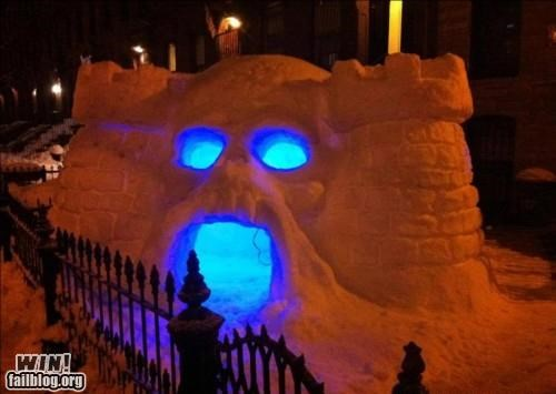 art nerdgasm skeletor snow snowpocalypse winter Winter Wonderland