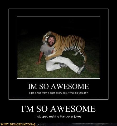 Zach Galifianakis awesome tiger hangover