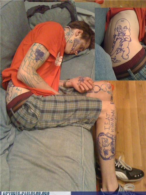 art,drawing,passed out