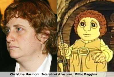 Bilbo Baggins,cartoons,Christine Marinoni,Cynthia Nixon,girlfriend,The Hobbit