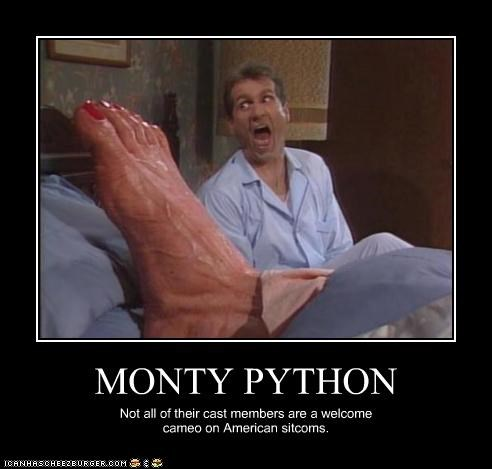 MONTY PYTHON Not all of their cast members are a welcome cameo on American sitcoms.