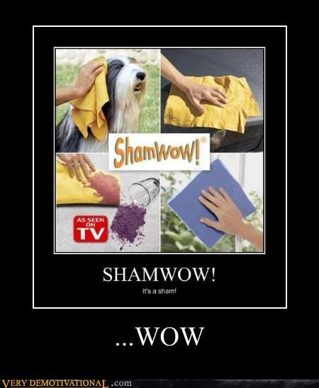 Ad bad idea product Shamwow