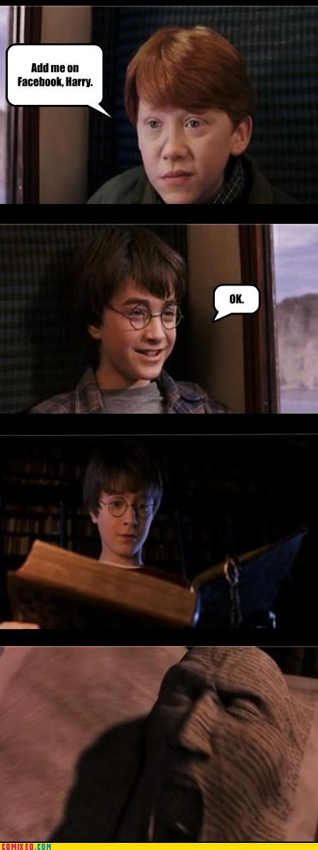 facebook,Harry Potter,magic,puns,rupert