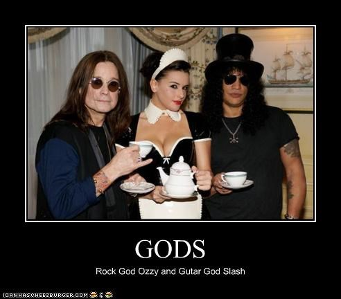 GODS Rock God Ozzy and Gutar God Slash