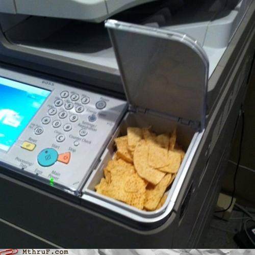 chips compartment door printer