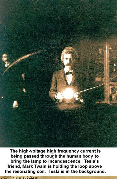 awesome cool mark twain Nikola Tesla win - 4468692480
