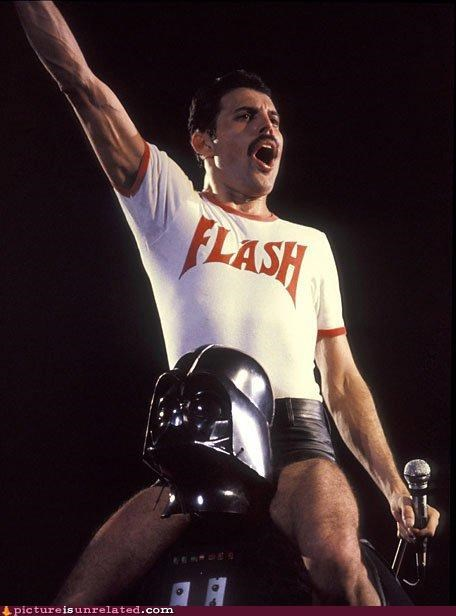 darth vader,flash,freddy mercury,queen,wtf
