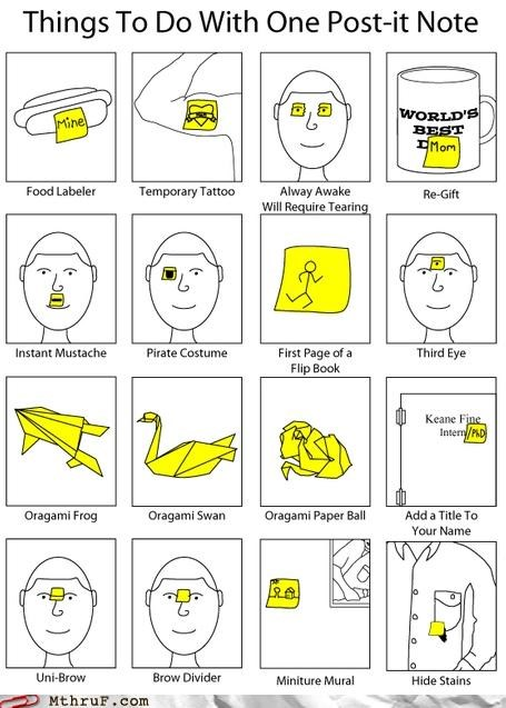 cartoons Chart drawing face mug post it sticky - 4468830208